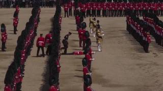 Watch Guardsman faint at Trooping the Colour ceremony during Queen