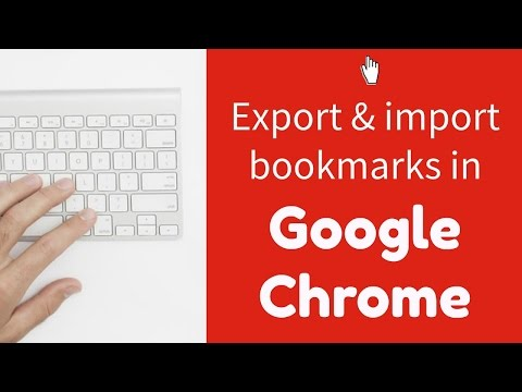 Exporting and Importing Bookmarks in Google Chrome