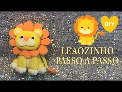 COMO FAZER LEAOZINHO BEBE PASSO A PASSO | PERSONAGEM EM MASSA | Cup n  Cakes Gourmet