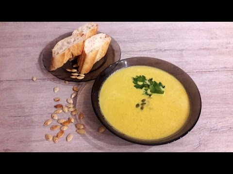 Pumpkin cream soup. The Sun energy in your plate!