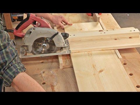 Crosscut Jig for Circular Saws