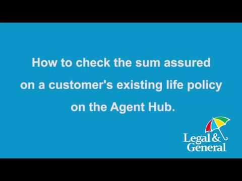 How to check the sum assured on a customer's existing policy on the Agent Hub