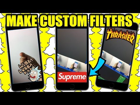 MAKE YOUR OWN SNAPCHAT FILTER!! (SUPREME,BAPE,MEMES,& MORE!! )WORKING 2017 LEGIT!!