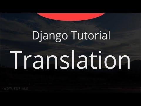 Django - Translation Tutorial