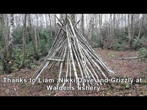 Wikiup long term survival shelter build part 1