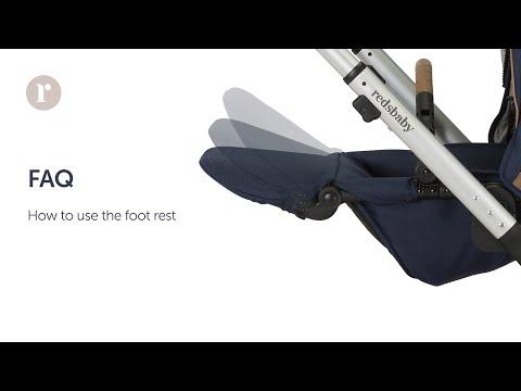 FAQ. How do I use the foot rest on my Redsbaby JIVE² / METRO² pram?