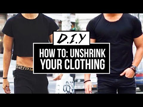HOW TO: UNSHRINK YOUR CLOTHES (EASY) | DIY TUTORIAL | JAIRWOO