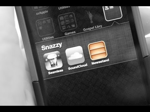 Put iOS 5's Annoying Newsstand.app in a Folder without Jailbreaking