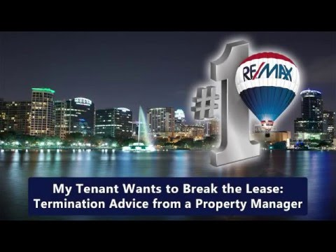 My Tenant Wants to Break the Lease: Termination Advice from a Property Manager in Orlando