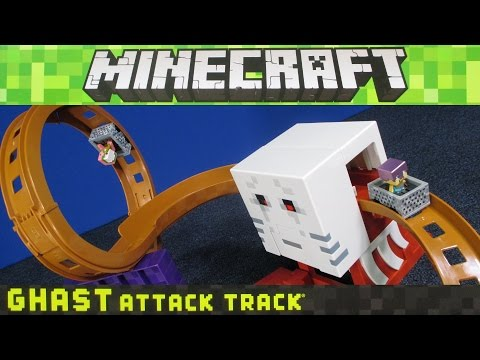 Minecraft Ghast Attack Track Set From Hot Wheels comes with Pigman and Minecart!