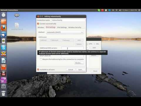 Assigning Static DNS Servers in Ubuntu Linux