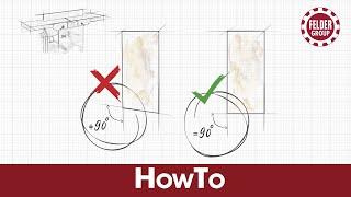 Arbeitstechnik: Winkel nicht 90° beim Abrichten - Felder Group® HowTo