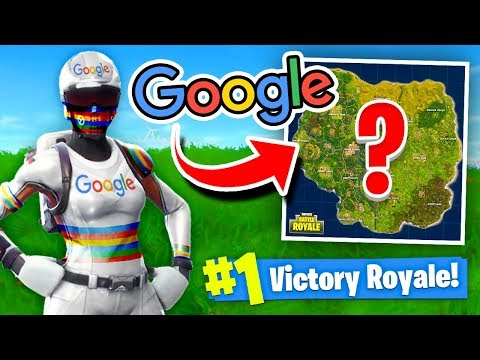 Using GOOGLE To WIN FORTNITE Battle Royale!
