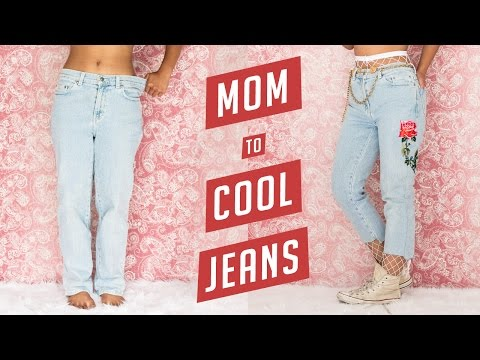 DIY Mom Jeans to Cool It-Girl $4 Jeans | Nava Rose