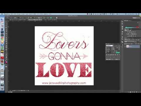 Adding Glitter to Text in Photoshop