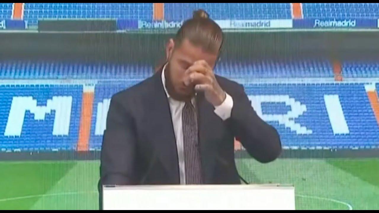 Así rompió a llorar Sergio Ramos en su despedida del Real Madrid