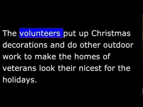 Christmas - Decorate a Vet - Helping Vets - VOA This is America