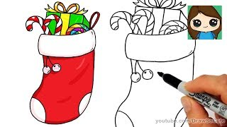 How to Draw a Christmas Stocking Easy
