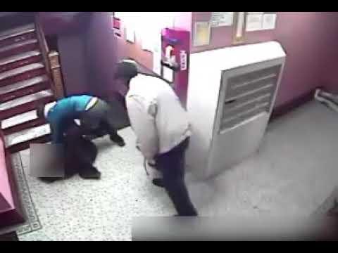 Violent mugging of woman, 63, caught on camera