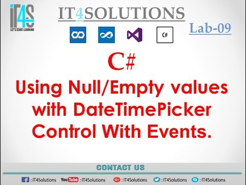 C# Tutorial - Using null value with DateTimePicker Control