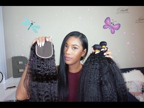 Realistic Looking Hair! Bestlacewigs Kinky Straight Hair| Affordable Indian Virgin Hair