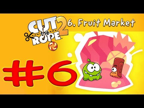 Cut The Rope 2 - Level 126 Fruit Market - All Medals Walkthrough