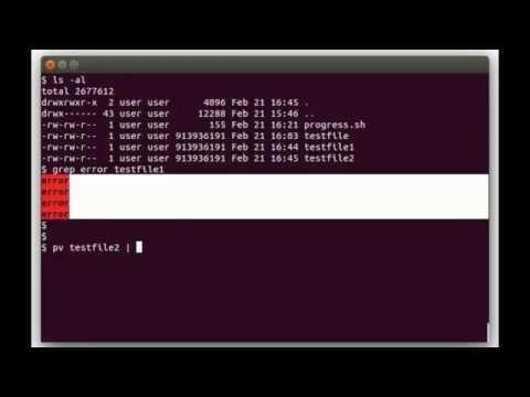 Show status progress in Linux Shell Scripts