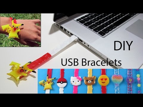 How To Make A Pikachu USB Bracelet/Keychains/Backpack Tag– DIY School Supplies in Pokemon Go Style