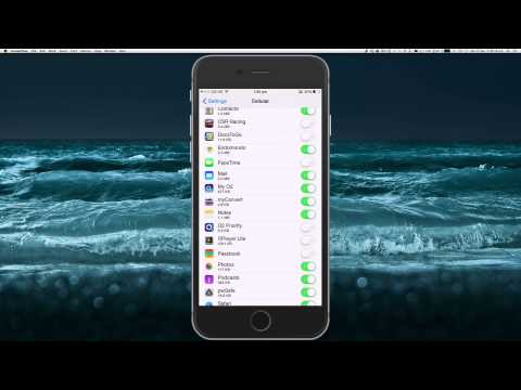 Choosing which apps can use your Cellular data iOS 8