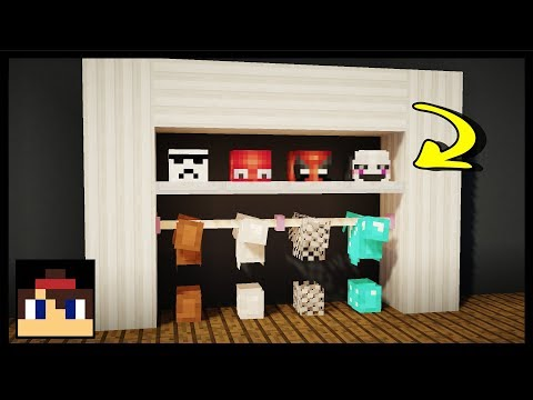 ✔ Minecraft: How To Make A Working Closet | MCPE (No Mods Or Addons!)