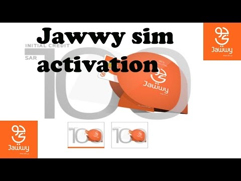 Jawwy sim Activation