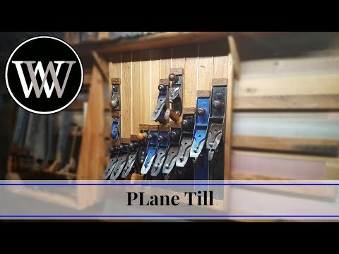 How to Make a Plane till for Hand Tool Storage   Woodworking Shop Project