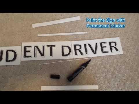 Magnetic Student Driver Sign DIY