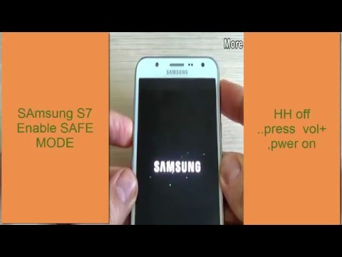 CARA men  ENABLe KAN  SAFE MODE Samsung S7