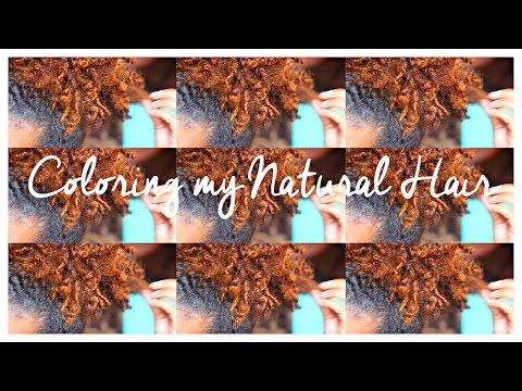 Coloring my Natural Hair | Creme of Nature