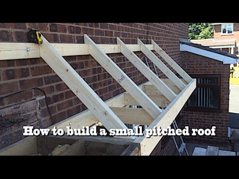 How to build a small pitched roof- 2