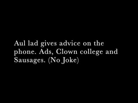 Aul lad gives advice on the phone.