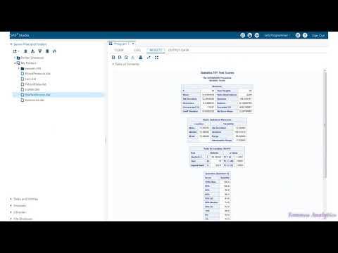 Base SAS: The double trailing @@ / How to calculate Mean, Median, Mode