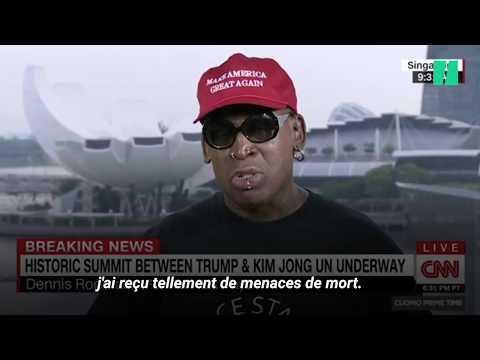 Singapour: Rodman fond en larmes en direct sur CNN en marge du sommet Trump-Kim