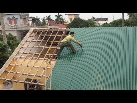 Amazing Old House Renovation Using Heat Insulation - How To Build a Sloping Roof