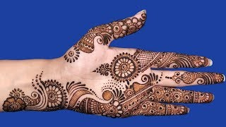 Beautiful Simple Mehndi Designs for Hands | Step by Step Henna for Hands #104 @ jaipurthepinkcity