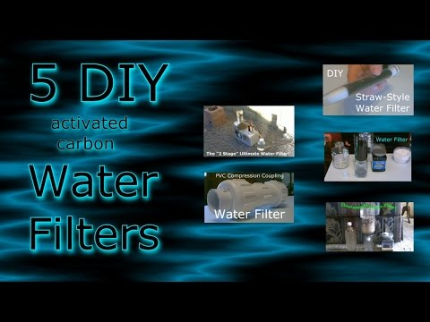 5 Homemade Water Filters! (Compilation vid.) - DIY water purifiers - All Easy DIY