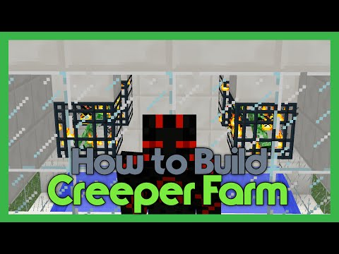 How To Build an Automatic Creeper Farm! (Using Spawners)