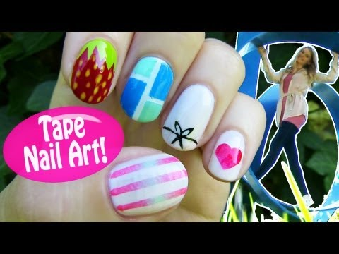 Tape Nail Art! 5 Nail Art Designs & Ideas Using a Scotch Tape!