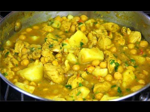 Curry Chicken With Chickpeas & Potato - Chris De La Rosa