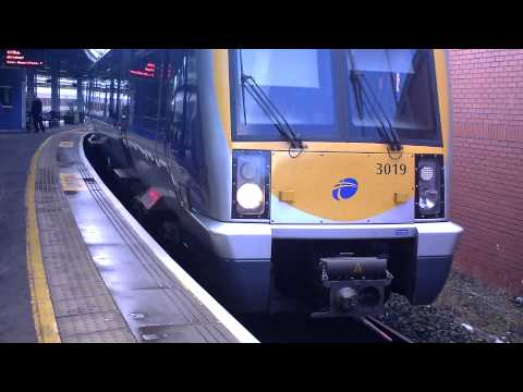 NI Railways CAF arrives/ departs Belfast Central