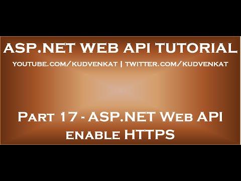 ASP NET Web API enable HTTPS