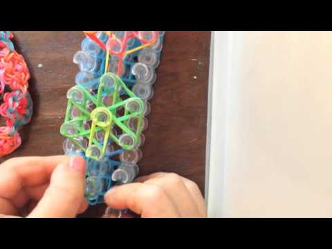 How to make a rainbow loom flower bracelet or necklace