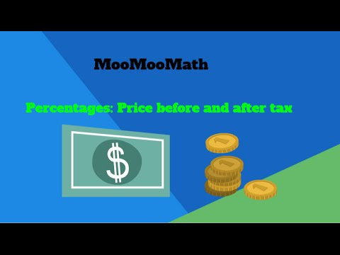Percentages: Price before and after sales tax