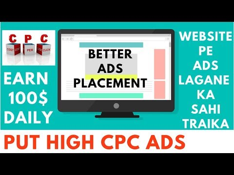 How To place ads on Website |  High CPC ads | Better Ad Placement Wordpress tutorial | Okey Ravi
